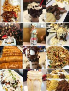 Negocios de comida en Instagram