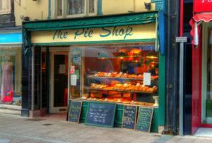 """FOTO tienda """"the pie shop"""" para ilustrar la presencia offline y online"""