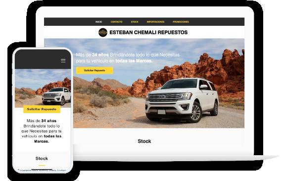 Foto1: Portafolio en Vista optimizada para celulares y pantalla de Escritorio de Agencia de Marketing Digital Vissonar