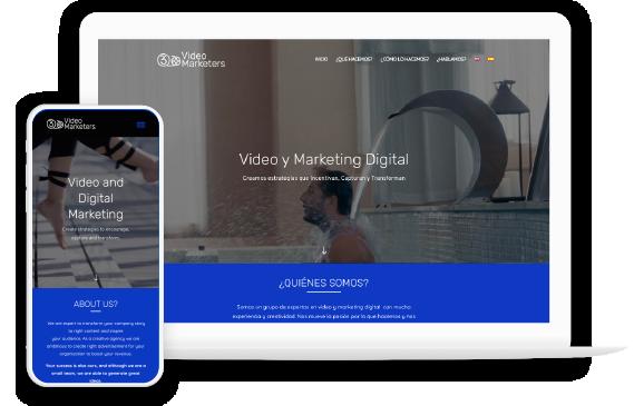 Foto6: Portafolio en Vista optimizada para celulares y pantalla de Escritorio de Agencia de Marketing Digital Vissonar