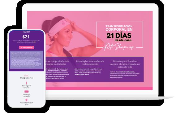 Foto5: Portafolio en Vista optimizada para celulares y pantalla de Escritorio de Agencia de Marketing Digital Vissonar