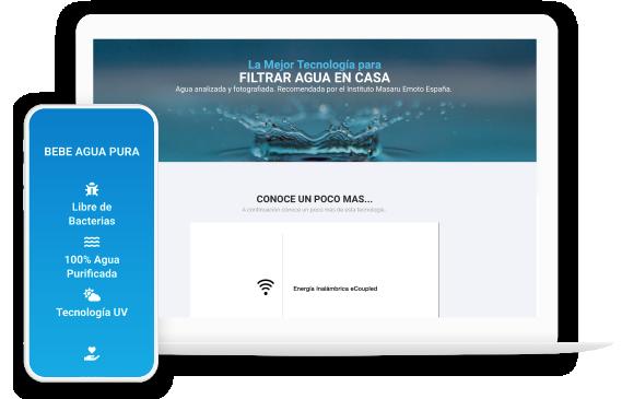 Foto2: Portafolio en Vista optimizada para celulares y pantalla de Escritorio de Agencia de Marketing Digital Vissonar